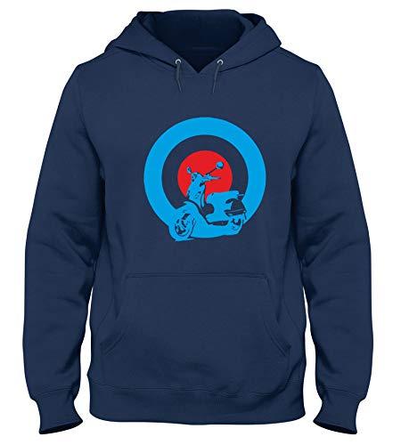 Speed Shirt Sudadera con Capucha para Hombre Azul Navy OLDENG00344 Mods Vespa