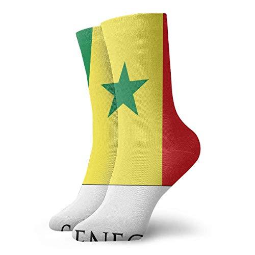 Funny Colourful Senegal Flag Mannschaftssocken Outdoor Socks for Unisex Mens Ankle Socks -