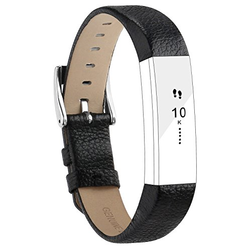 Fitbit Alta Armband and Alta HR Armband, Echt Leder Uhrenarmband Lederarmband Erstatzband Sport Armband f¨¹r Fitbit Alta und Alta HR Unisex Fitness Armband