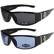 2er Pack X-CRUZE® Fahrrad Schutzbrille Sonnenbrille Brille Herren Damen schwarz P49Yz