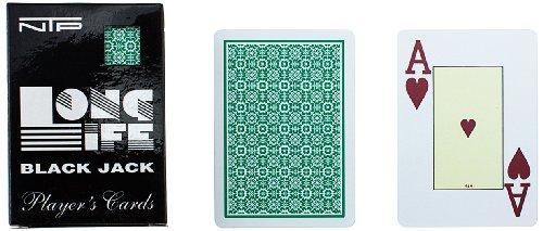 Ntp 00036 - black jack carte da gioco, verde