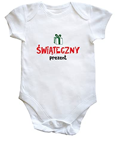 hippowarehouse swiateczny prezent (en polonais) de cadeau de Noël bébé pour garçons filles - blanc - 2 mois