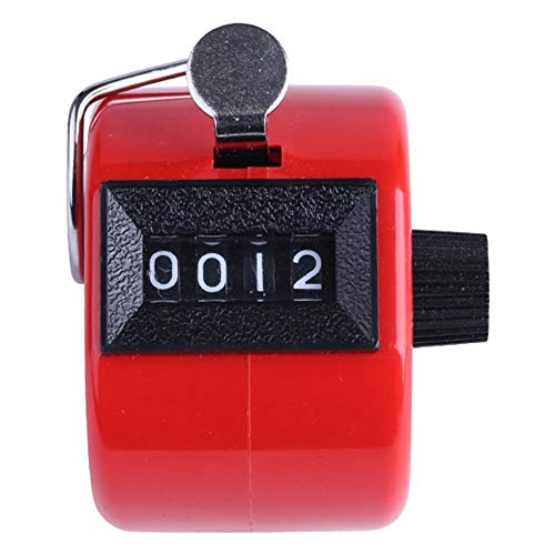 Vikenner Hand Held Tally Counter 4 dígitos Números