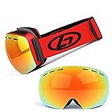 Lunettes de course à pied Lunettes de ski Lunettes de ski sphériques...
