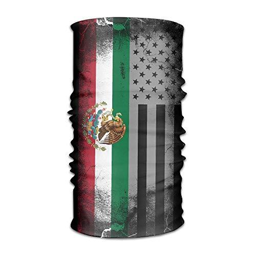 USA Mexico Crack Flag Multifunctional Magic Headwear