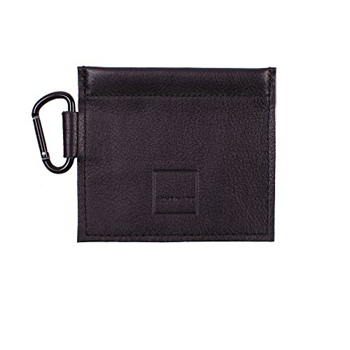 Acme Made Echt Leder Mini Spring-Top Tasche Schwarz am11611