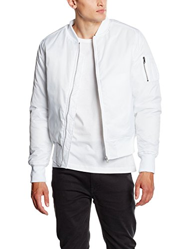 Urban Classics Basic Bomber Jacket, Giacca Uomo, Weiß (White 220), Medium