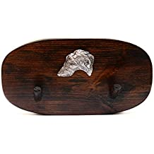Galgo de Escocia, Percha de madera único, con un relieve de un perro de raza pura