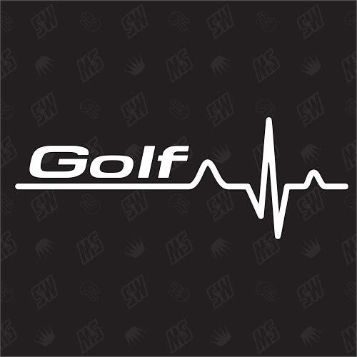 speedwerk-motorwear Golf Herzschlag - Sticker für VW