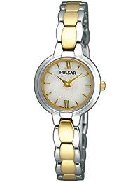 Pulsar Uhren PEGF95X1 - Reloj analógico de cuarzo para mujer con correa de acero inoxidable, color dorado
