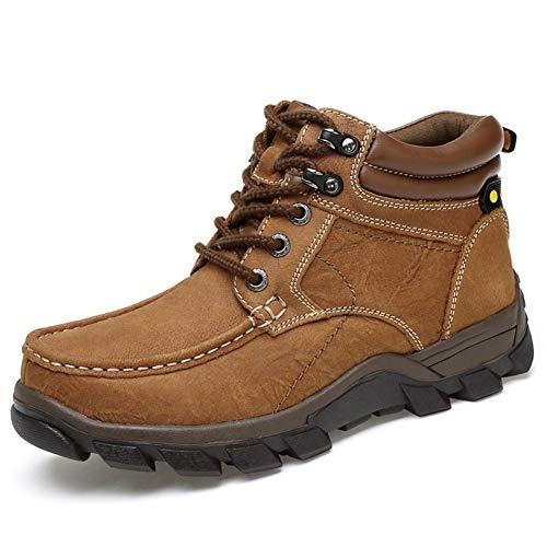 Herren Stiefel, Herbst Martin Stiefel Leder Große Größe Outdoor Werkzeug Stiefel Hohe Schuhe Bequeme Laufschuhe Stiefel Wanderschuhe Wanderschuhe XUE (Farbe : EIN, Größe : 39)