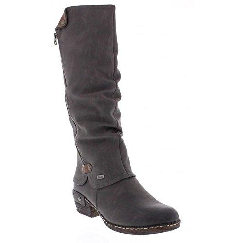 Rieker Sierra Womens Long Boots 6.5 / 40 Fumo