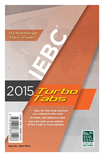 2015 International Existing Building Code Turbo Tabs for Paperbound Edition