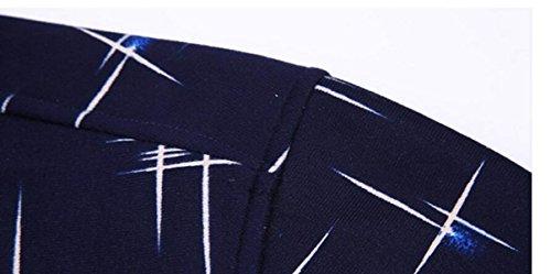 CHLXI Uomini Camicia A Maniche Lunghe Più Spessa Reticolo Per Il Tempo Libero 25