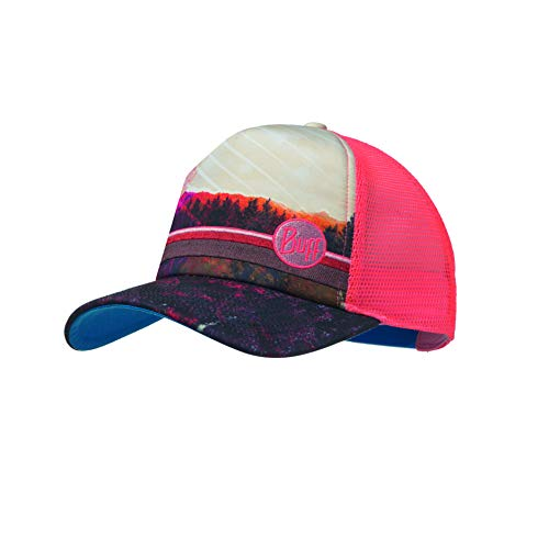 Buff Damen Trucker Cap, Collage Multi, One Size Front-mesh Back Cap
