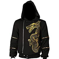 Mesky Suicide Squad Pullover Killer Croc Kapuzenpullover Unisex Pullover Warm Sweatshirt aus Baumwolle Fancy Dress Accessories Outdoor Bekleidung