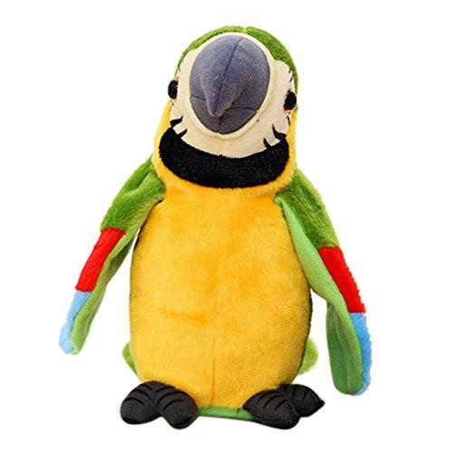 YunYoud Entzückende sprechen sprechende Rekordwiederholungen Wehende Flügel Netter Papagei angefülltes Plüsch-Spielzeug günstige weihnachten baby spielsachen kinderspielzeug