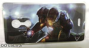 Soft Fancy Back Cover For LYF WATER 7 - Iron Man Print