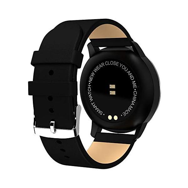 Pulsera deportiva Smart Smartwatches,rastreador de actividad física,Podómetro/Detección de frecuencia cardíaca/Anti-perdida/Recordatorio de tareas/Mensaje telefónico,Smartwatch mujeres hombres,Gold 3