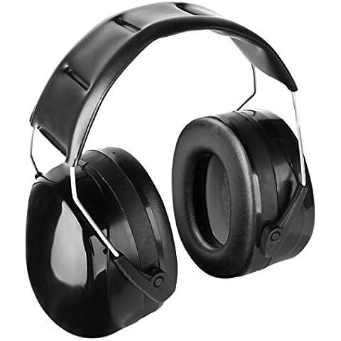 GVDV Casco anti ruido protección para oídos NNR 30dB SNR 35dB con diadema ajustable, Negro
