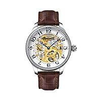 Reloj Ingersoll IN7902WHG de caballero automático con correa de piel marrón - sumergible a 30 metros de Ingersoll