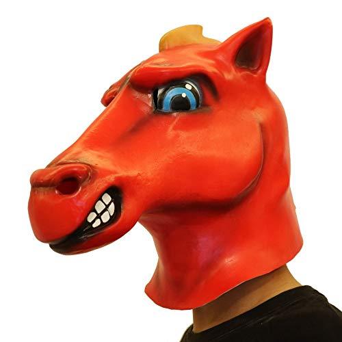 Wawer Cartoon Pferd Maske Gesichtsmaske aus Latex Schmelzen Cosplay Kostüm Sammlerstück Prop Scary Maske Spielzeug