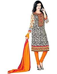 K Designer Women's Chiffon Unstitched Dress Material (Mehak9016_Multi-coloured_Freesize)