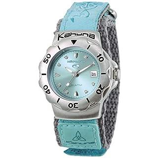Kahuna AK001 – Reloj analógico de Cuarzo para Mujer, Correa de Tela Color Turquesa