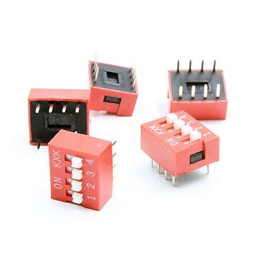 Para Kits Arduino Bricolaje 4 Posiciones 8 Pines interruptores