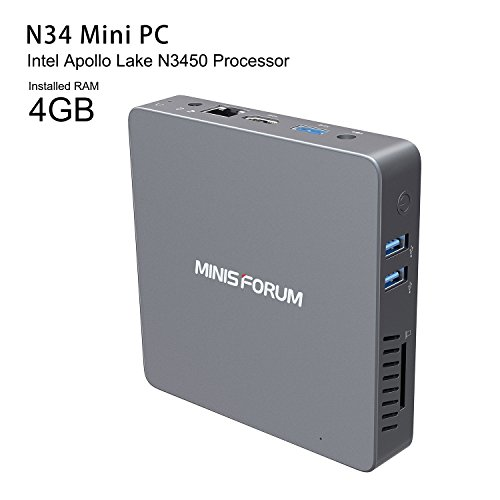 Foto N34 MINI PC Supporto Windows 10 Pro DIY SSD Intel Apollo Celeron...