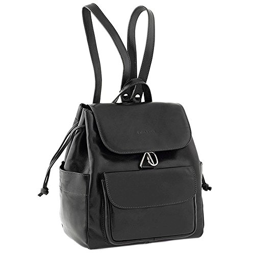 Chiarugi sac à dos en cuir italien (noir) noir