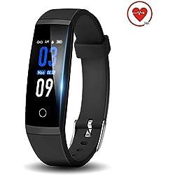 DoSmarter Fitness Armbanduhr, Wasserdicht 0.96 Zoll Farbbildschirm Aktivitätstracker Uhr mit Herzfrequenzmesser, Schlafmonitor, Kalorienzähler und Schrittzähler für Damen Herren Kinder