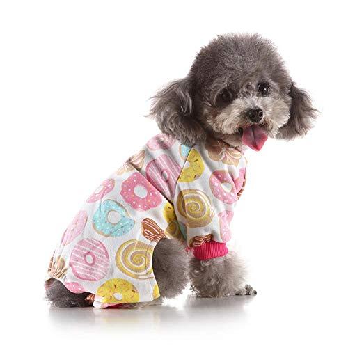 aheadad Hundebekleidung Haustier Onesies Weiche Hundeschlafanzüge Welpenstrampler