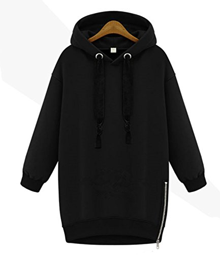 Damen Kapuzenpullover Bat Ärmel Hoodie Sweatshirt Pullover mit Kapuze Sweatjacke Kapuzenpullover langärmeligen Streetwear - 4 Farben und 5 Größen