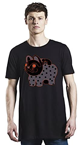 Cat Bag Japanese Dotted Long T-Shirt For Men  Custom -Printed Tee  100% Superior Organic Combed Cotton  Premium Quality DTG Printing  Unique Clothing For Men By Bang Bangin X-Large