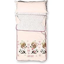 Burrito Blanco - Saco nórdico 146 Rosa de cama de 90x190/200 cm