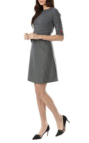 Sugarhill Boutique - Robe - À Rayures - Manches Courtes - Femme Gris