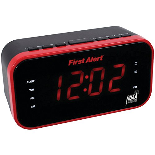 First Alert Am And Fm Weather Band Clock Radio With Weather Alert (pack of 1 Ea)