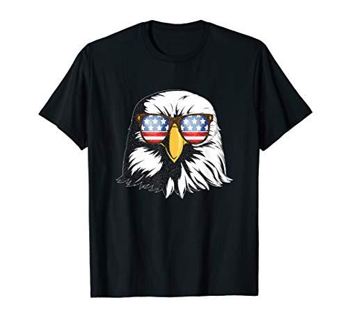 Patriotic Eagle American Flag Sonnenbrille Freedom Symbol T-Shirt