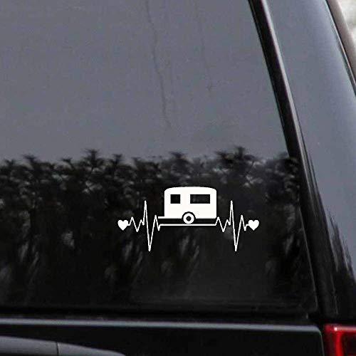 Autoaufkleber 16 cm x 7,3 cm Spaß Camping Lebensader Herzschlag Motorrad Auto Aufkleber Autozubehör Auto Aufkleber Weiß