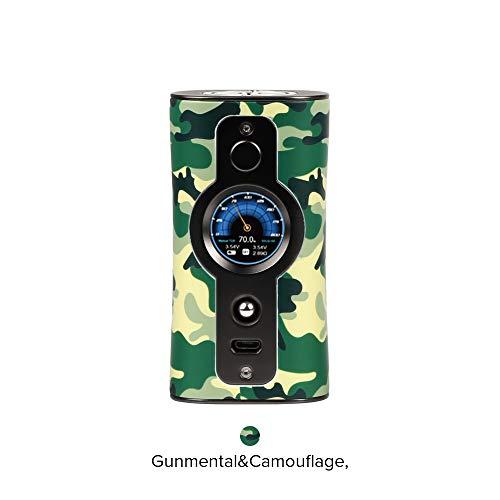 E Zigarette Akku Vsticking VK530 200W TC Box Mod, duale 18650-Batterie TFT IPS HD-Bildschirm, 5-10 Individuelle Hintergrundbilder-Ohne Nikotin Ohne Tabak (Gunmental&Camouflage) -