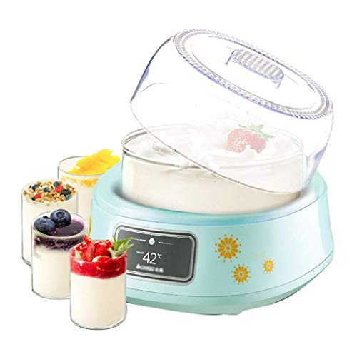 HIZLJJ Base de Acero Inoxidable Pantalla Digital Temporizador automático 4 frascos con Tapas sin BPA Perfecto for Yogur casero Yogur for niños o Desayuno for Llevar