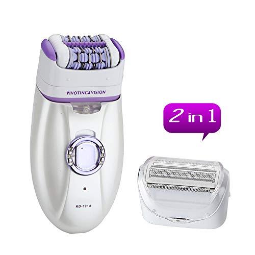 Epilator 3 und 1 Multifunktionale Portable Hair Remover Rasierer Bikini Razor mit Manicure Set,Purple