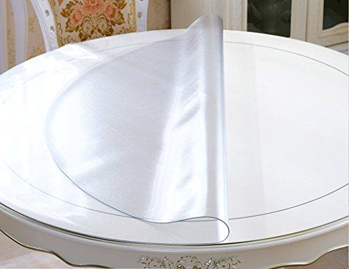 Nappes Circulaire en Verre Cristal Souple PVC Transparent Givré Table Ronde Table Imperméable À l'eau Anti-Chaude Huile-Preuve (2mm) (Taille : Diameter100cm)