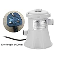 RuleaxAsi Electric Swimming Pool Filter Pump Reusable Practical Swimming Pool Filter Water Purifier Easy to Install