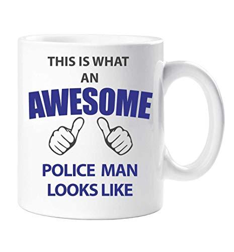 Dies ist, was ein Awesome Police Man sieht aus wie Becher Geschenk Tasse Geburtstag Weihnachten
