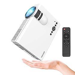 Tenker Mini Beamer 2200 Lumens Full HD 1080P Video LCD Mini HD Projektor, Unterstützung HDMI VGA Decke / Stativ Installation für Video TV PC Laptop Spiele iPhone Android Smartphone mit erstklassigem Ton & wenig Beigeräusch