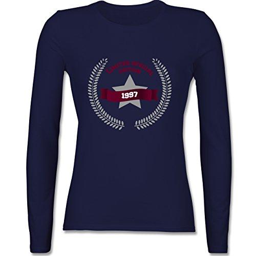 Geburtstag - 1997 Limited Special Edition - tailliertes Longsleeve / langärmeliges T-Shirt für Damen Navy Blau