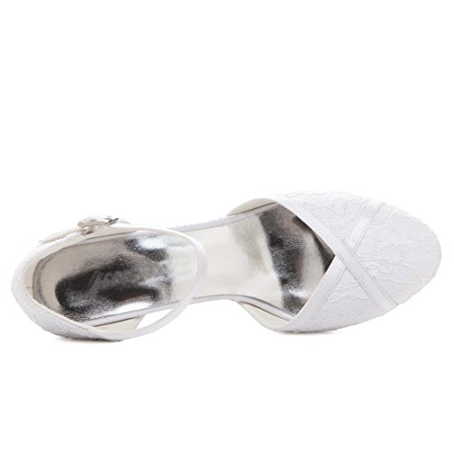 Minitoo MinitooUK-MZ8220, Escarpins Pour Femme White-6cm Heel