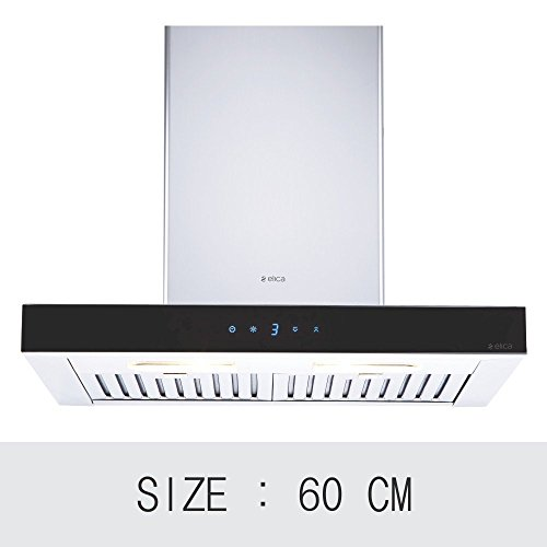 Elica 60 cm 1220 m3/hr Chimney (SPOT ETB PLUS LTW 60 TC3V LED, 2 Baffle Filters, Touch Control, Steel &...